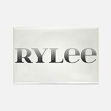 Rylee Carved Metal Rectangle Magnet