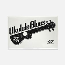 Ukulele Blues Rectangle Magnet