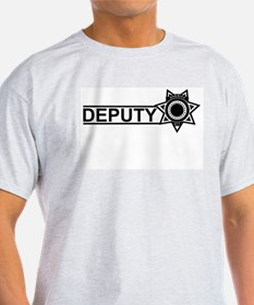 Deputy Badge Ash Grey T-Shirt