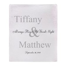 Customizable Always Kiss me Throw Blanket