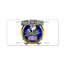 US Navy Seabees Anchors Aluminum License Plate