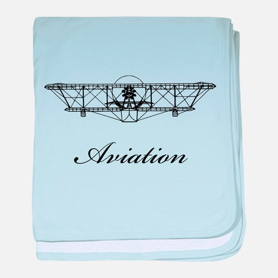 Classic Aviation baby blanket