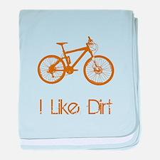 I Like Dirt Bike baby blanket