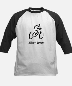 Biker Dude Kids Baseball Jersey