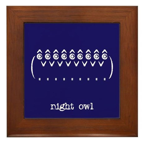 Night Owl Framed Tile