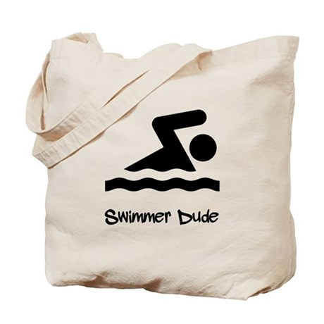 Swimmer Dude Tote Bag