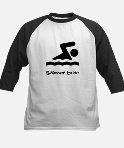 Swimmer Dude Kids Baseball Jersey