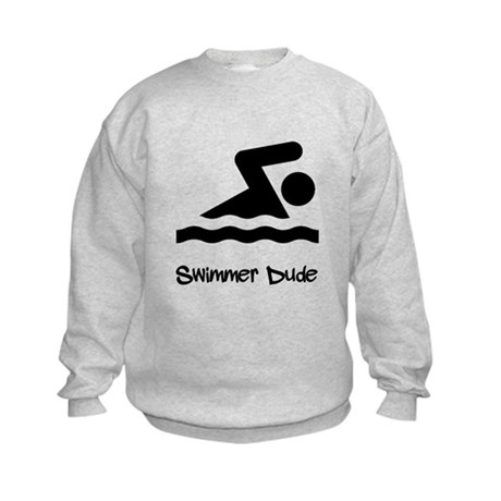 Swimmer Dude Kids Sweatshirt