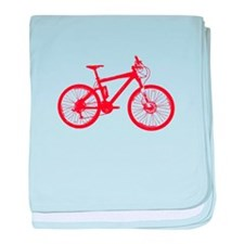 Red Mountain Bike baby blanket
