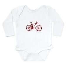 Red Mountain Bike Long Sleeve Infant Bodysuit