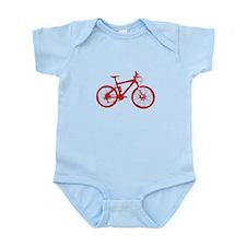 Red Mountain Bike Infant Bodysuit