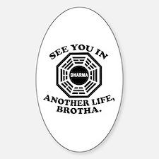 Classic LOST Quote Sticker (Oval)