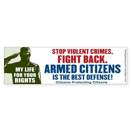 Fight Back Bumper Sticker