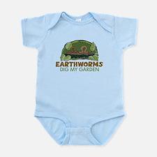 Garden Earthworms Infant Bodysuit