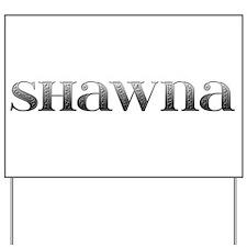 Shawna Carved Metal Yard Sign