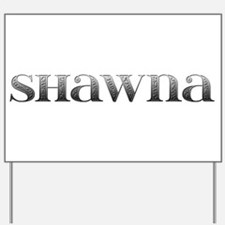 Shawna Carved Metal Yard Sign