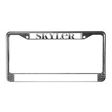 Skyler Carved Metal License Plate Frame