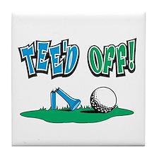 TEE'D OFF! Golf Tile Coaster