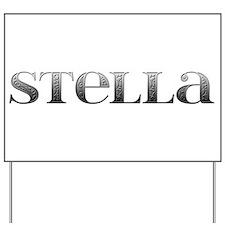 Stella Carved Metal Yard Sign