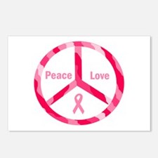 Peace Love Cure Postcards (Package of 8)