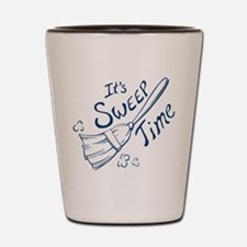 Blue and White Sweep Time Shot Glass