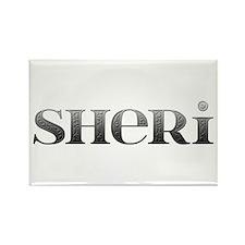 Sheri Carved Metal Rectangle Magnet