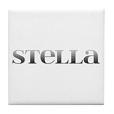 Stella Carved Metal Tile Coaster