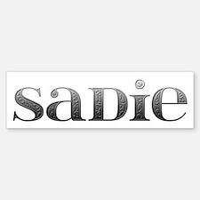 Sadie Carved Metal Bumper Bumper Bumper Sticker