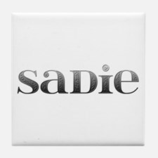 Sadie Carved Metal Tile Coaster