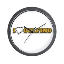 I Love Golfing Wall Clock