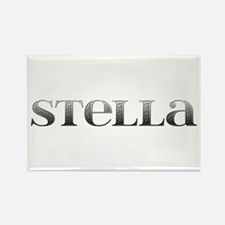 Stella Carved Metal Rectangle Magnet