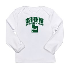 Zion Old Style Green Long Sleeve Infant T-Shirt