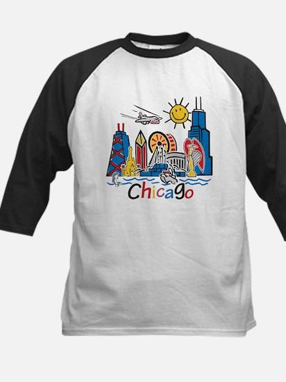 Chicago Cute Kids Skyline Kids Baseball Jersey