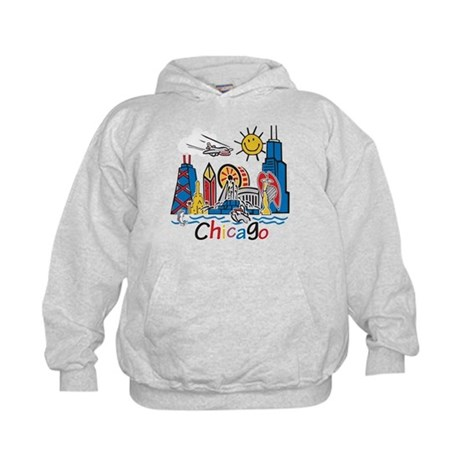 Chicago Cute Kids Skyline Kids Hoodie
