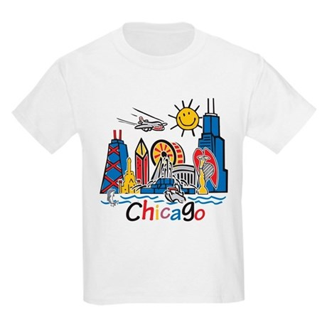Chicago Cute Kids Skyline Kids Light T-Shirt