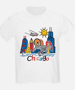Chicago Cute Kids Skyline T-Shirt