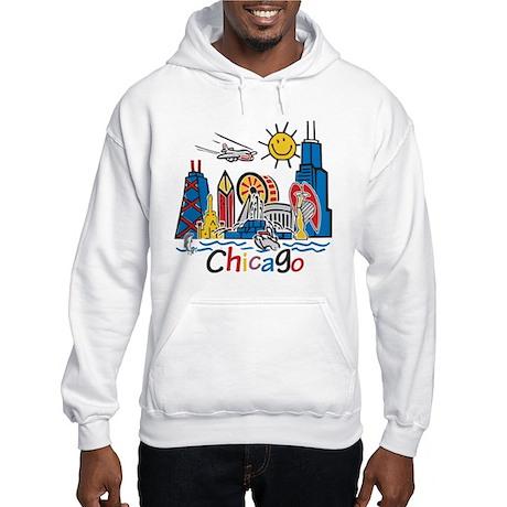 Chicago Cute Kids Skyline Hooded Sweatshirt