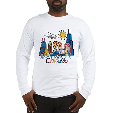 Chicago Cute Kids Skyline Long Sleeve T-Shirt