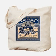 Navy Pier Chicago Box Design Tote Bag