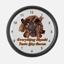 Tasty Bacon Large Wall Clock