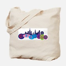 Chicago Words In Circle with Tote Bag