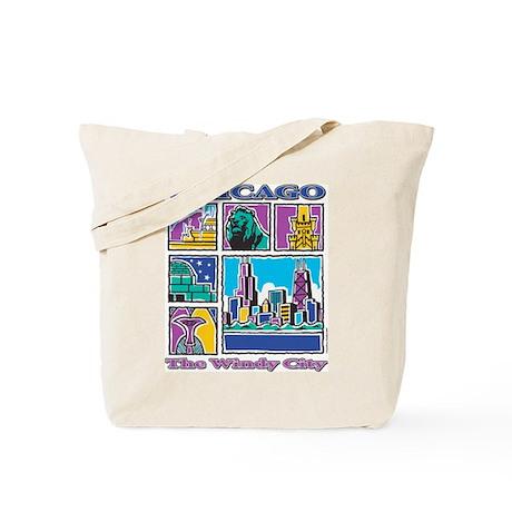 Chicago Puzzle Tote Bag