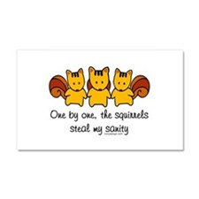 One by one, the squirrels Car Magnet 20 x 12