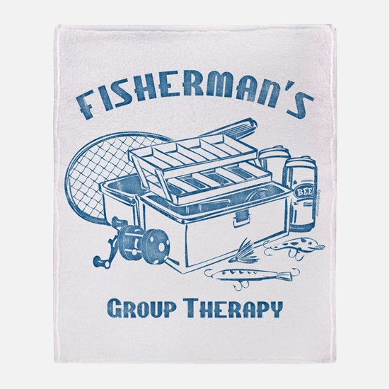 Fisherman's Group Therapy Throw Blanket