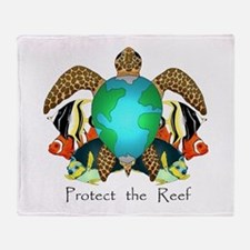 Save the Reef Throw Blanket