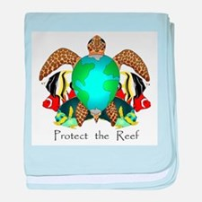 Save the Reef baby blanket