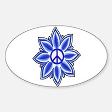 Peace Lotus-Oval Decal