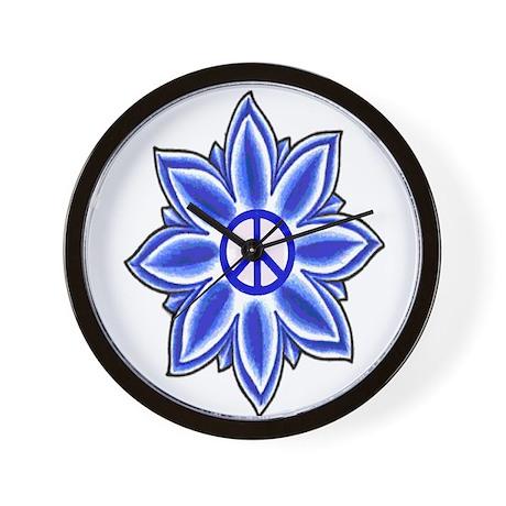 Peace Lotus Wall Clock