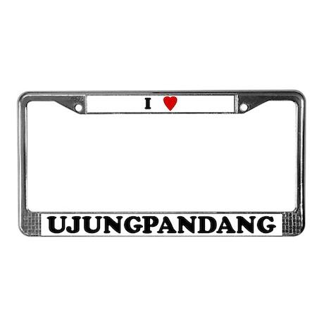 I Love Ujungpandang License Plate Frame