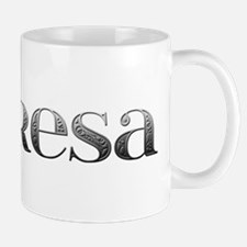Theresa Carved Metal Mug